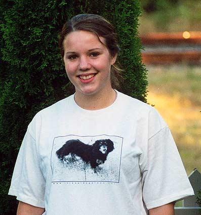 in jessie s garden   long haired dachshund t shirt
